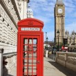 London Red Telephone Booth — ストック写真