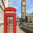 London Red Telephone Booth - Foto de Stock