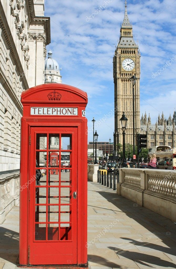 London Red Telephone Booth — Stock Photo © ego450 #8158465