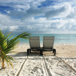 sunbed on the beach — Stock Photo #8163980