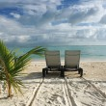 Sunbed on the beach — Stock Photo #8164028
