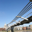 Stock Photo: Millennium Bridge and St.Pauls Cathedral