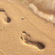 Stock Photo: Footprint in the sand