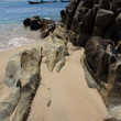 Stones on the tropical beach — Stock Photo #8732909