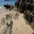 Stones on the tropical beach — Stock Photo #8732914