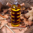 Oil and natural products — Stock Photo