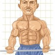 Strong Bodybuilder - Stock Vector