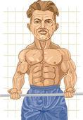 Starke bodybuilder — Stockvektor