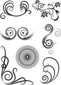 Swirl elements — Stock Vector