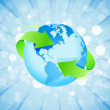 Blue Background with Planet Earth — Stock Vector #10539105