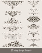 Vintage decoration elements — Stock Vector