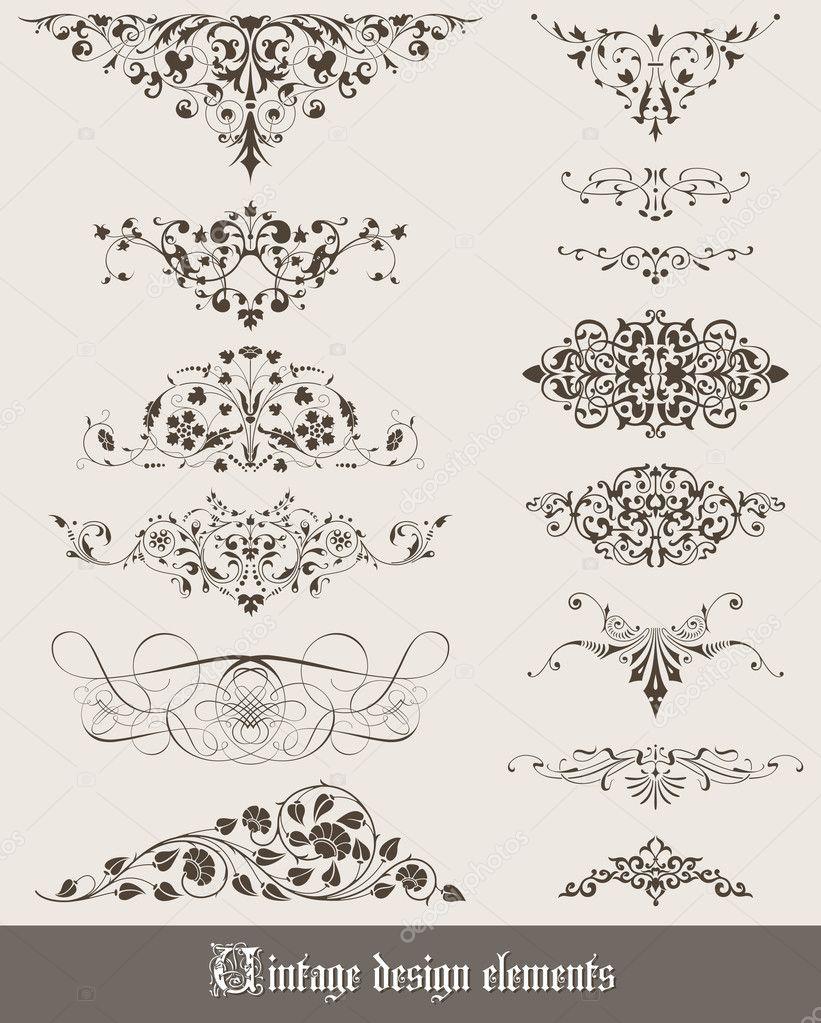 Elementos de la decoraci n vintage vector de stock wad 8910152 - Elementos de decoracion ...