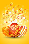 Easter Eggs with Ornament Decoration — Stock Vector