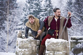 Winter medieval story — Stock Photo