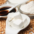 Stock Photo: Tofu and other soy products