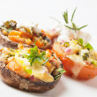 Stuffed portabello mushrooms — Stock Photo #10575375