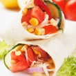 Vegetarian tortilla wraps — Stock Photo