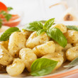 Gnocchi di patata with basilico and pesto - Stock Photo