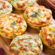 Mini quiche with spinach and vegetables — Stok fotoğraf