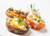 Stuffed portabello mushrooms — Stock Photo