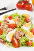 Egg and tuna salad — Stockfoto