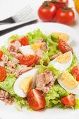 Egg and tuna salad — Stock Photo