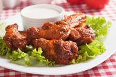 Buffalo style chicken wings — Stock Photo