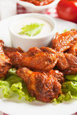 Buffalo style chicken wings — Stock Photo