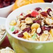 Cereal muesli with dried fruit - Stock Photo