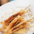 Grilled baby corn - Stock Photo