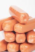 Kiełbasy surowe hot dog — Zdjęcie stockowe