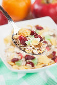Muesli with dried fruit — Stock Photo