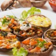 Stuffed portabello mushrooms — Stock Photo #8977620