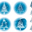 Christmas Trees — Stock Vector #10724052