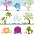 Stock Vector: Trees Collection