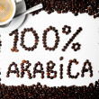 100 % arabica — Stock Photo