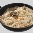 Pilau on the pan — Stock Photo