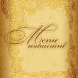 Vintage menu - Stock Vector
