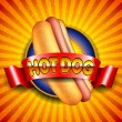 Hot Dog - Stockvectorbeeld