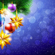 Royalty-Free Stock Vektorov obrzek: New Year background with Christmas tree and decorations