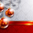 New Year background with red balls - 