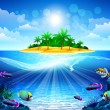 Royalty-Free Stock Vector Image: Tropical ocean