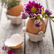 Homemade Easter decoration — Stockfoto #9444053