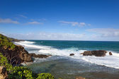 Gris Gris cape on South of Mauritius. Big waves in the absence of a reef — Stock Photo