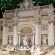 Celebratory fireworks over Fountain of Trevi. Italy. Rome — Stock fotografie