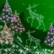 Stock Photo: Christmas tree with New Year's balls and deer