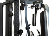 Gym equipment- elements of a power training apparatus. — Stock Photo