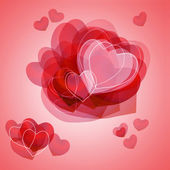 Romantic card for valentines day- red heart — Stock Photo
