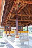 Gallery in a temple on lake Beratan. Bali. Indonesia. — Stock Photo