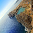 Greece, Rhodes. Aerial view on St. Paul's bay in Lindos — Stock Photo #8780659